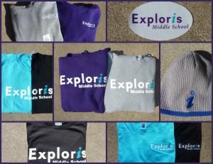 Sampling of Exploris Spirit Wear!