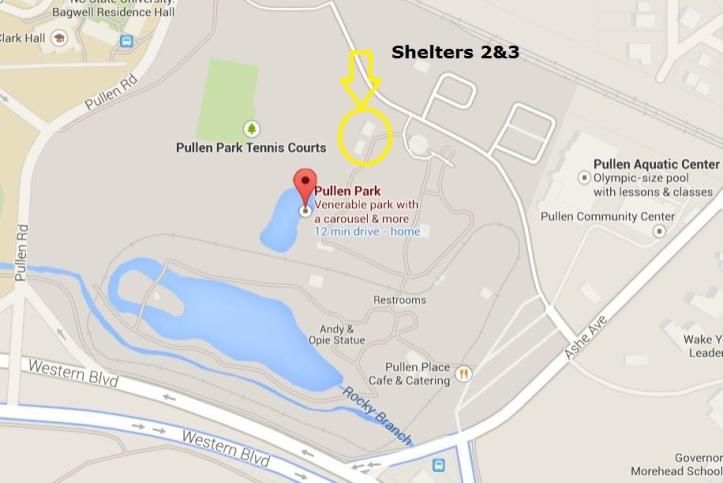Pullen Park Map