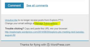 Manage Blog Subscription